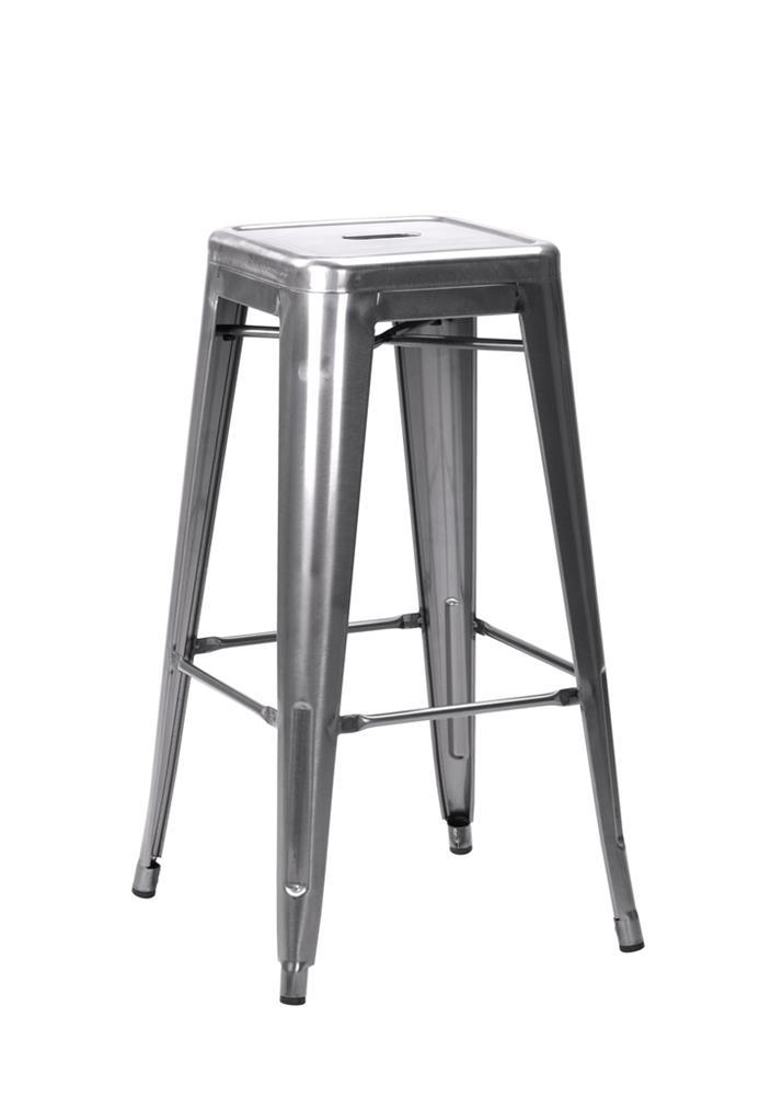 331-424 French Bistro - Silver / Grey Gloss