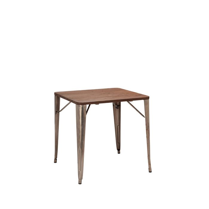 331-470 French Bistro Table (700mm x 700mm) Natural / Walnut