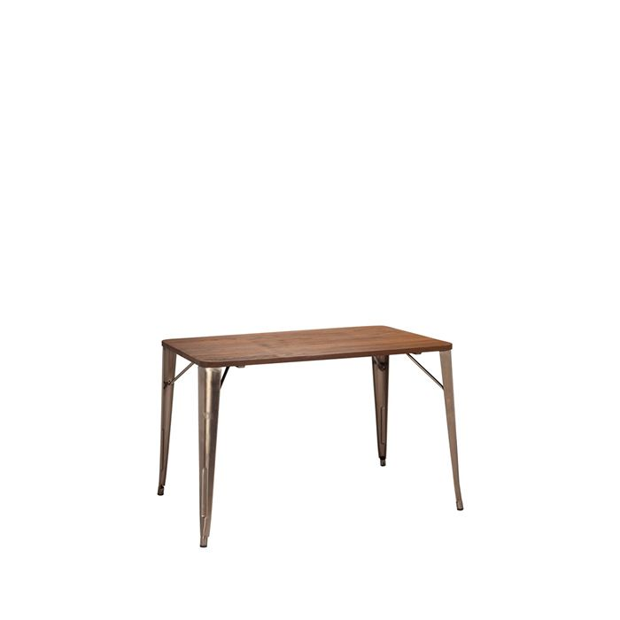 331-476 French Bistro Table (1100mm x 700mm) Natural / Walnut