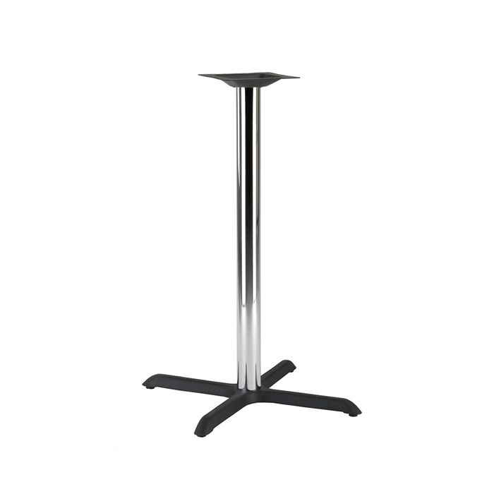 349-065 Atlas Medium Table Base (PH-Black/Chrome)