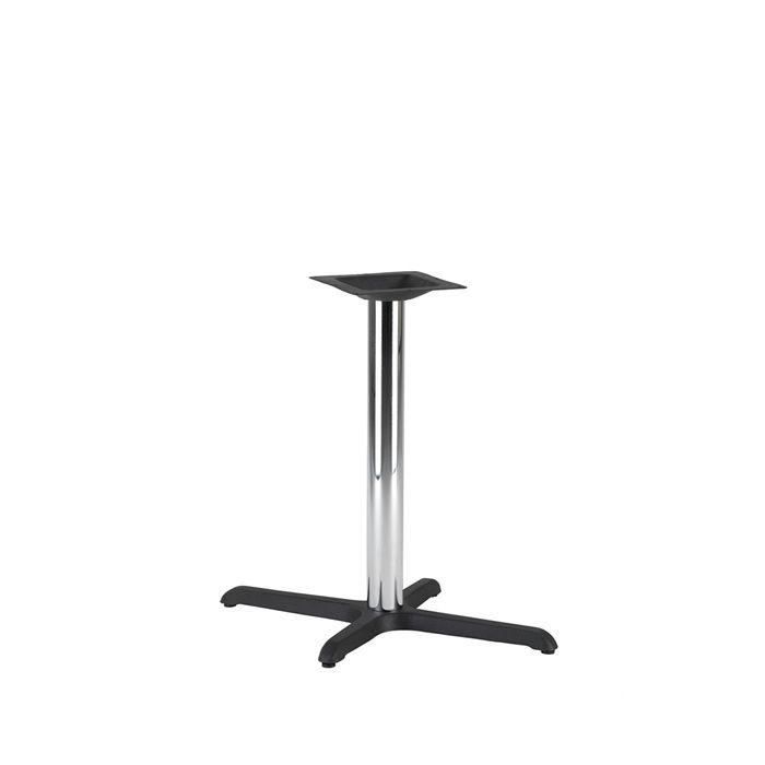 349-069 Atlas Single Rectangular Table Base (DH-Black/Chrome)