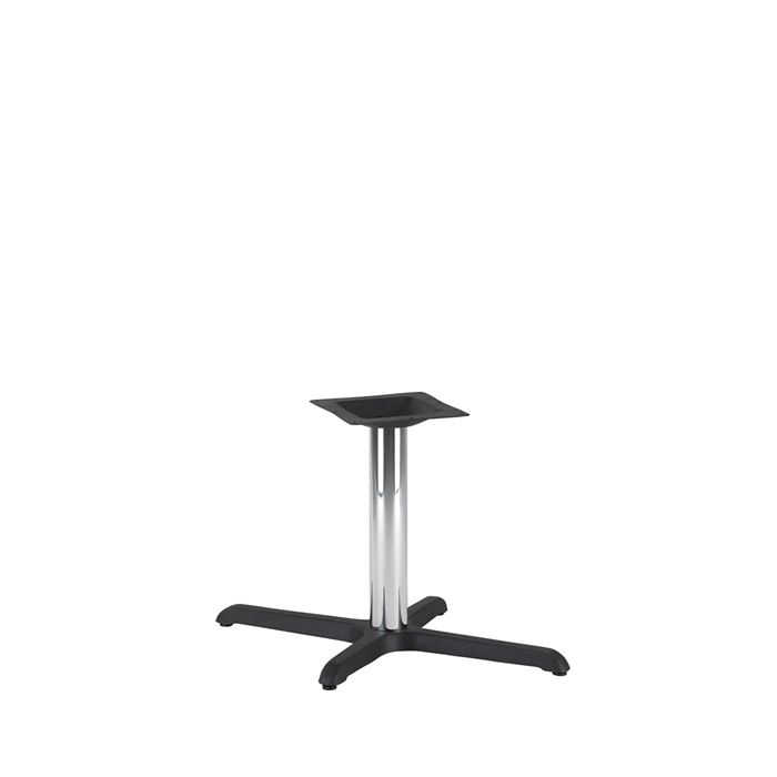 349-070 Atlas Single Rectangular Table Base (CH-Black/Chrome)