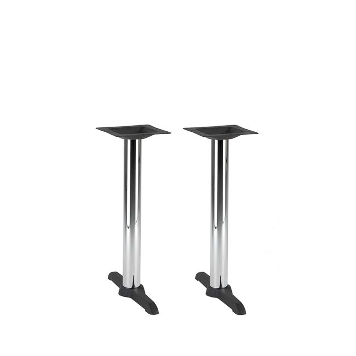 349-081 Atlas Twin Table Base (DH-Black/Chrome)