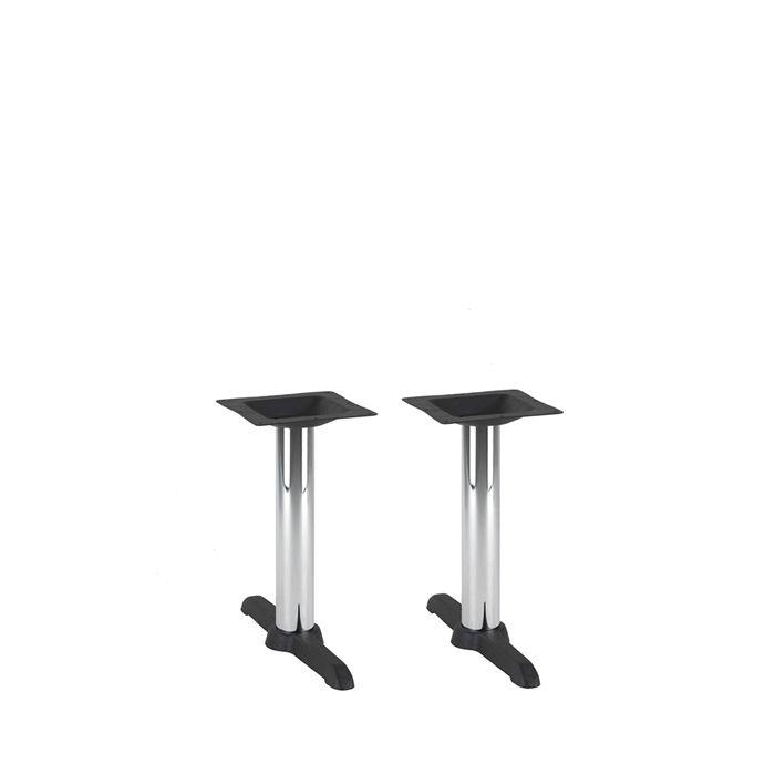 349-083 Atlas Twin Table Base (CH-Black/Chrome)