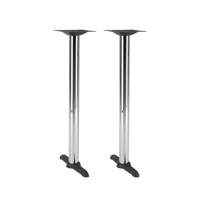 349-085 Atlas Twin Table Base (PH-Black/Chrome)