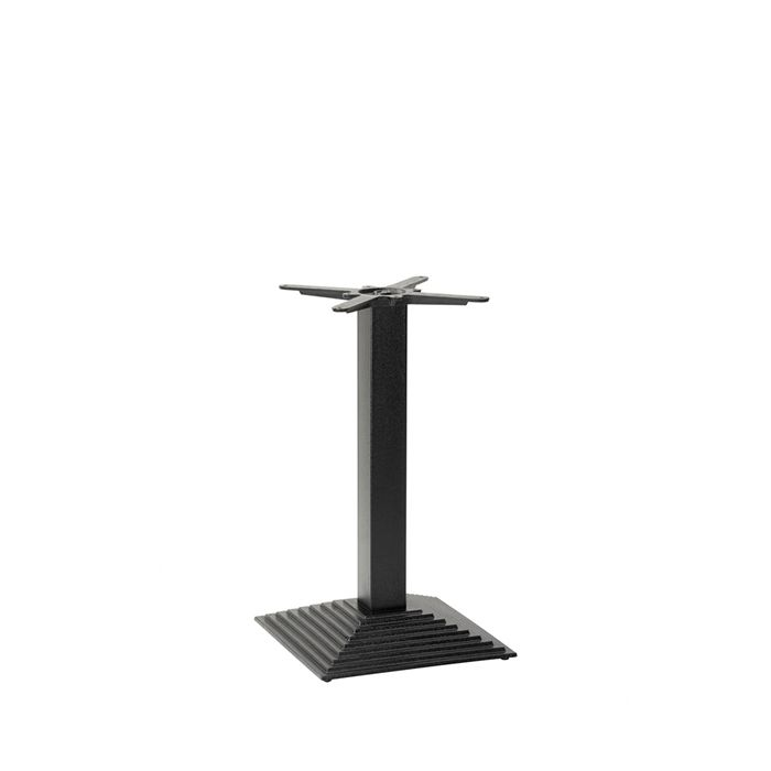 349-200 Arrow Stepped Square Table Base (DH-Black)