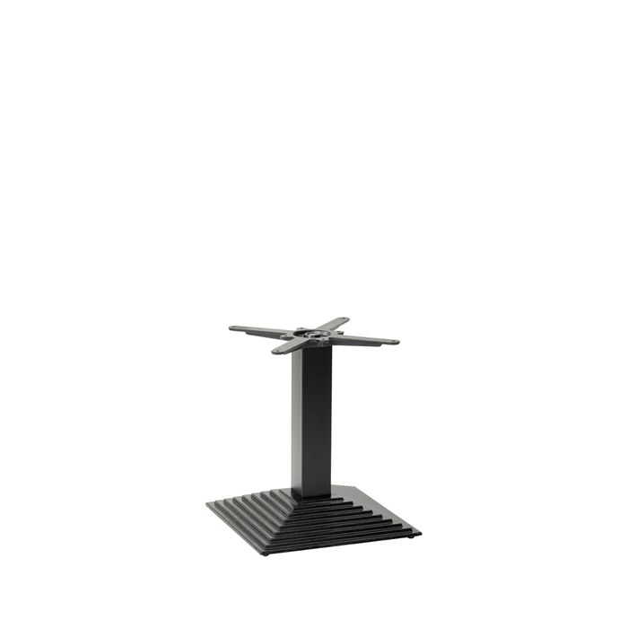 349-201 Arrow Stepped Square Table Base (CH-Black)