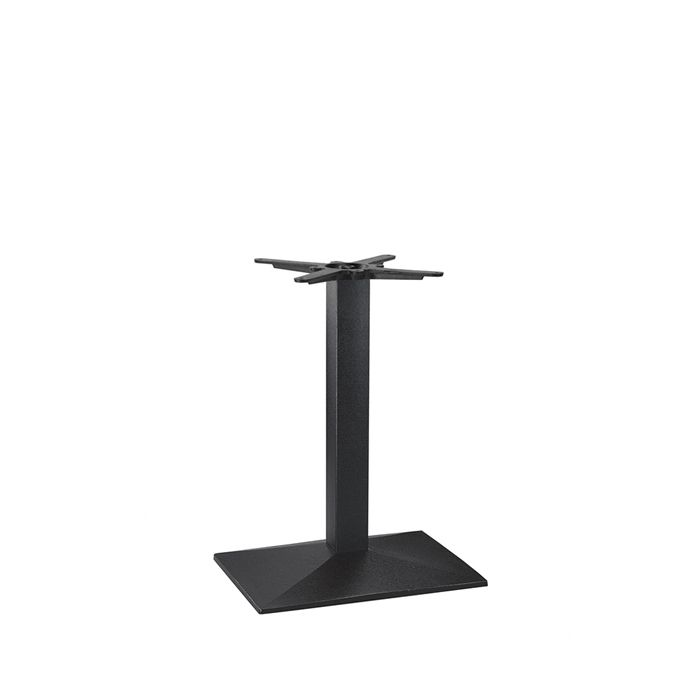 349-252 Hudson Single Rectangular Table Base (DH-Black)