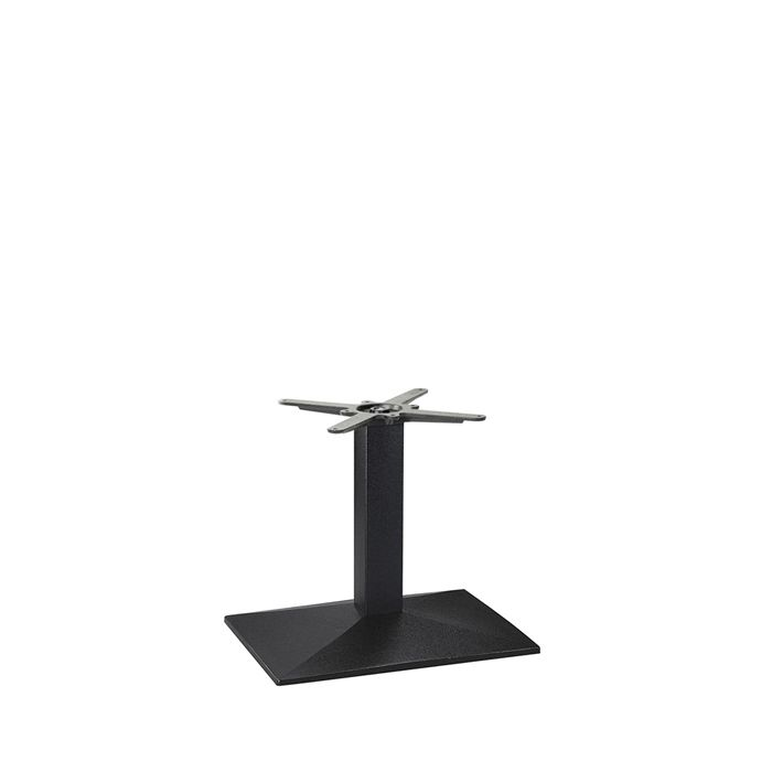 349-253 Hudson Single Rectangular Table Base (CH-Black)