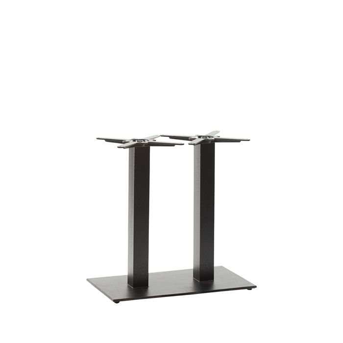 349-296 Titan Rectangular Twin Table Base (DH-Black)