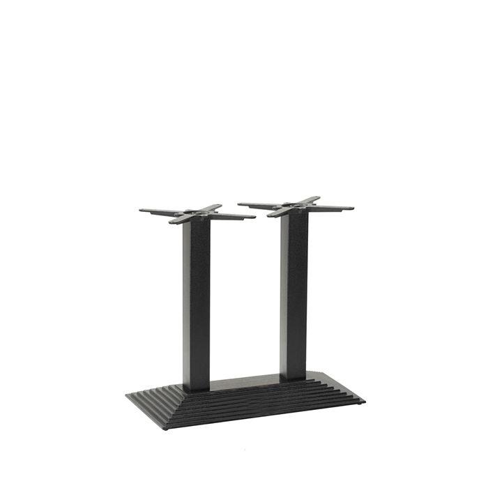 349-426 Arrow Rectangular Twin Table Base (DH-Black)
