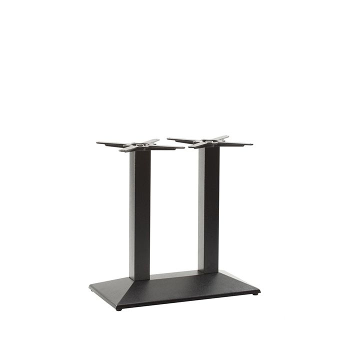 349-435 Hudson Twin Rectangular Table Base (DH-Black)