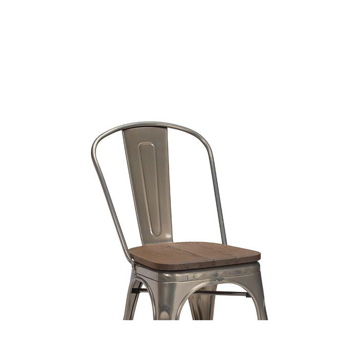950-150 French Bistro - Walnut Finish Wooden Seat Board
