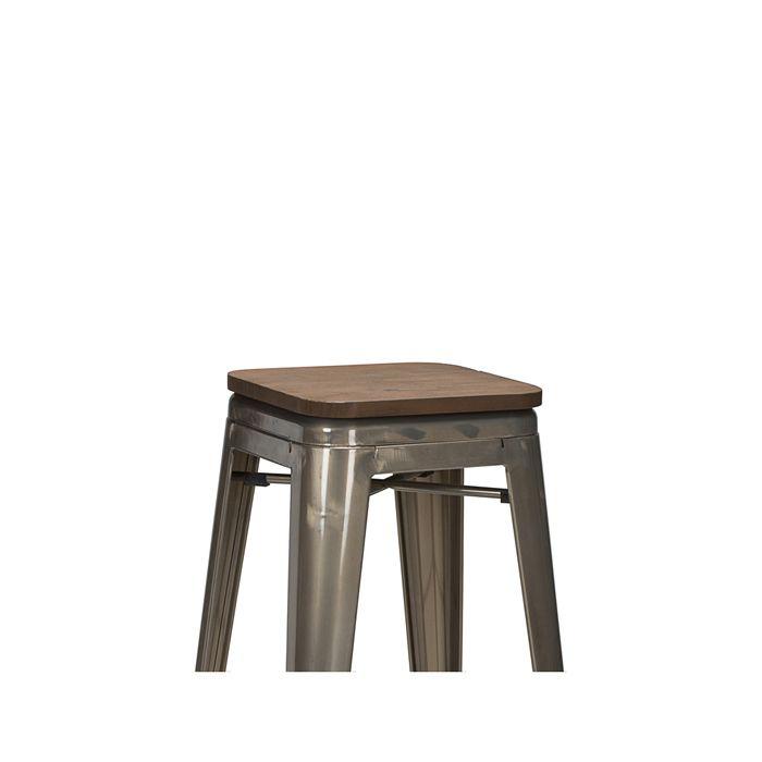 950-151 French Bistro - Walnut Finish Wooden Seat Board