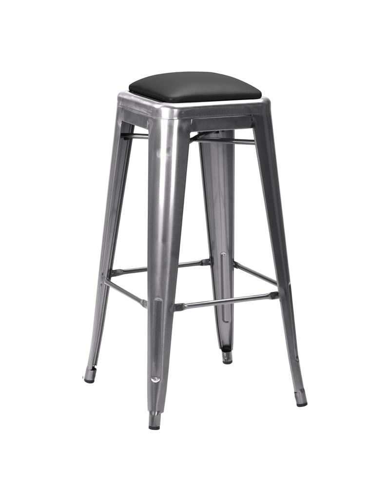 950-161 Upholstered Seat (Black Faux Leather) Stool